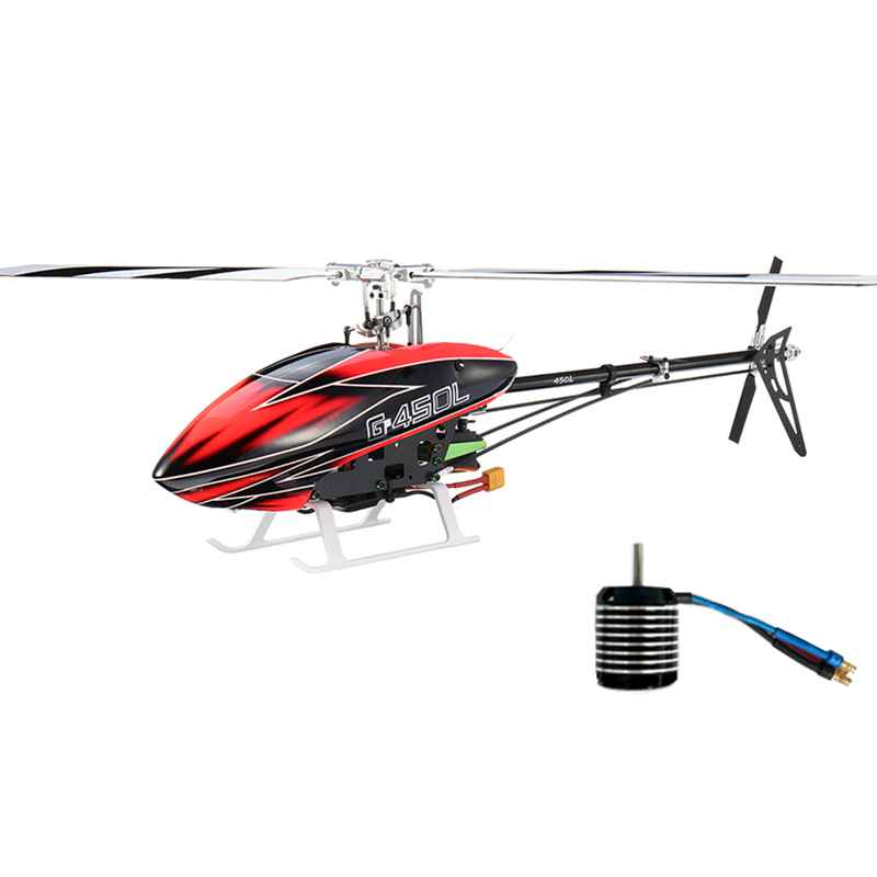 Upgrade JCZK ASSAULT 450L DFC 6CH 3D Flybarless RC Helicopter Kit With Brushless Motor For Children Kids Outdoor RC Models Toys