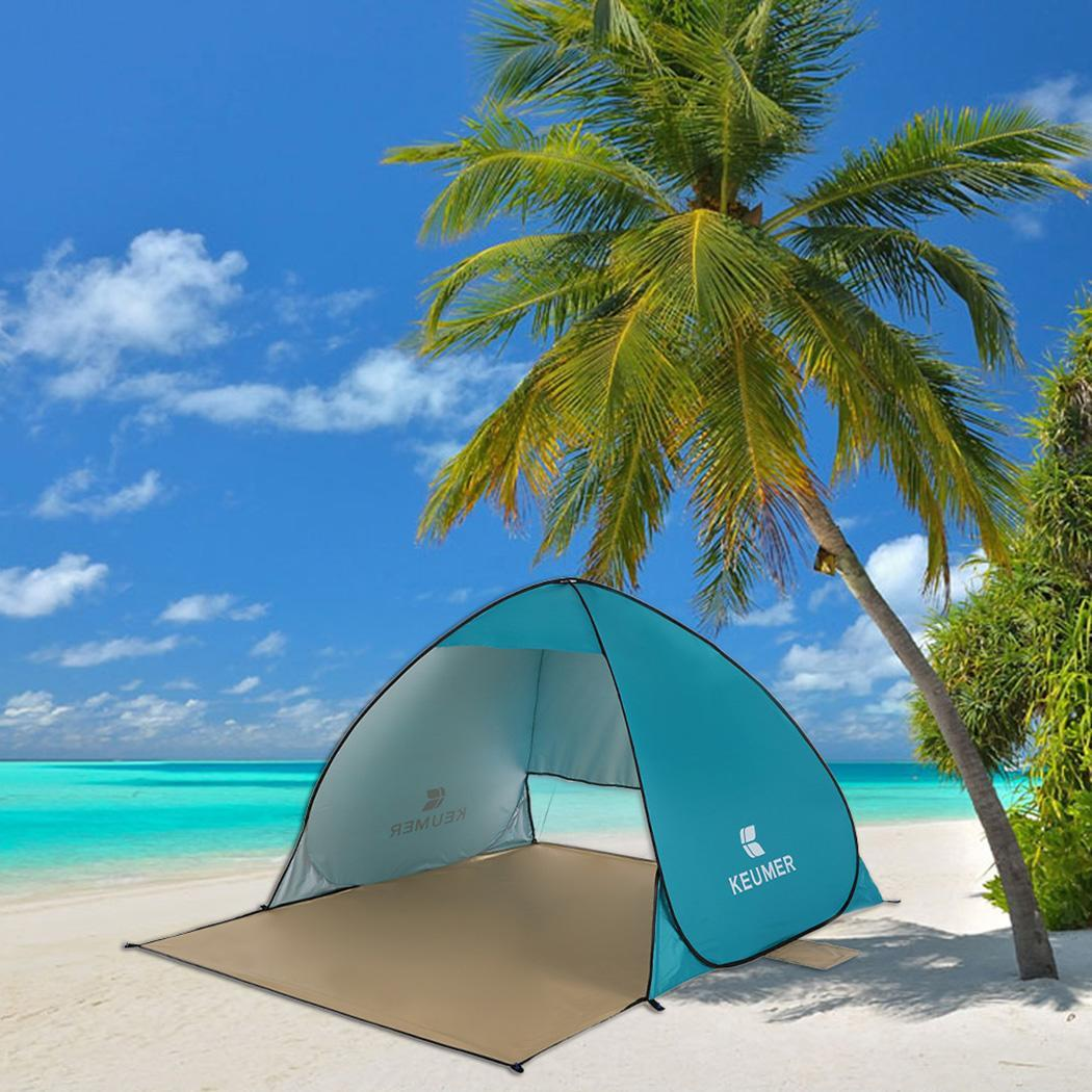 Outdoor Automatic Instant Pop-up Portable Beach 1060g / 2.33lb Tent Light Blue Anti UVOutdoor Automatic Instant Pop-up Portable Beach 1060g / 2.33lb Tent Light Blue Anti UV