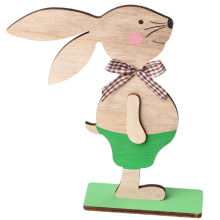 Wooden Rabbit Nordic Style Home Decoration Desk Lovely Shape Ornament For Easter