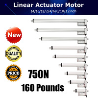 750N 4 18 Inch 330lbs DC 12V Electric Motor Linear Actuator For lectric Self Unicycle Scooter Input Voltage Range Aluminum Alloy