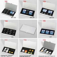 10 arten Aluminium Tragbare SIM Micro Pin SIM Karte Nanocard Speicher Karte TF Card SDcard Lagerung Box Fall Protector Halter splitter