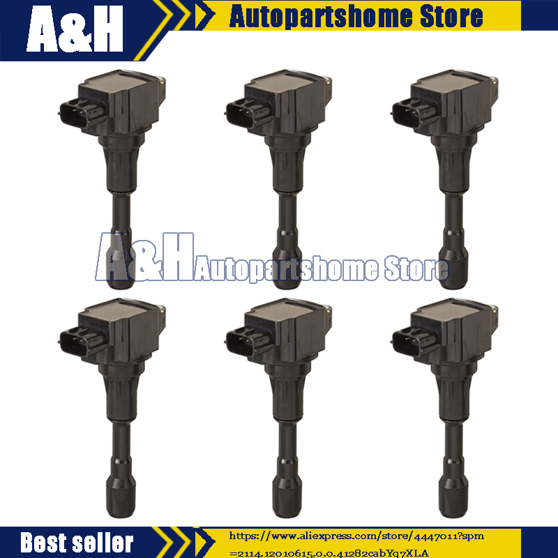 6Pcs Ignition Coil Pack 22448 JF00B 22448JF00B For NISSAN GT R V6 3.8L 2009 2014|Ignition Coil| |  - title=