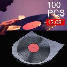 """100 шт. 1"""" виниловая пластмассовая пленка для пластиковой записи LP, Антистатическая пленка для записи, внешняя внутренняя пластиковая прозрачная крышка, контейнер"""