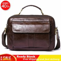 Luxury brand Messenger Bag Men Genuine Leather Shoulder Crossbody Bags for Male Fashion Handbags Zipper ipad Totes briefcase New