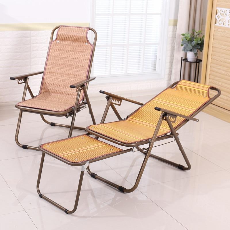 Бамбуковый Коврик шезлонг стул для пожилых беременных женщин обеденный перерыв стул Щелкунчик Прохладный стул - 2