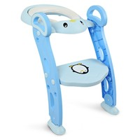 3 Colors Baby Potty Training Seat Children's Potty Baby Toilet Seat With Adjustable Ladder Infant Toilet Training Folding Seat