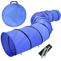 24 Foldable 210D Waterproof Nylon Pet Dog Cat Tunnel Weave Poles Long Agility Training Exercise Storage Bag Cat Rabbit Play Toy