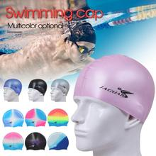 New Solid Silicone Swim Cap Comfortable Fit Swimming For Men Women Adults Youths Waterproof