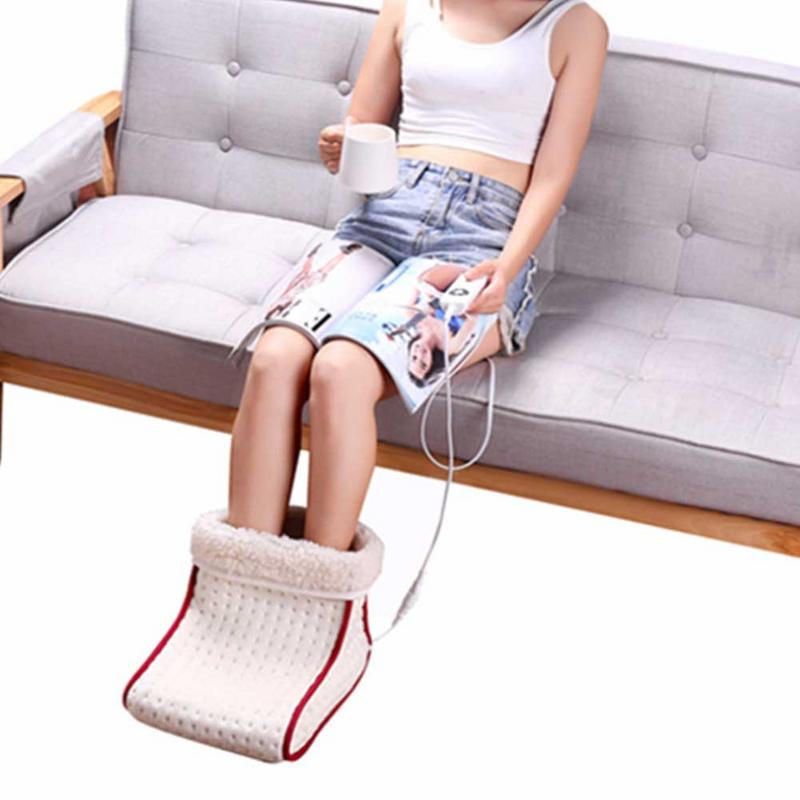 Electric Foot Warmer Heating Pad Slippers Shoes Chair Warm
