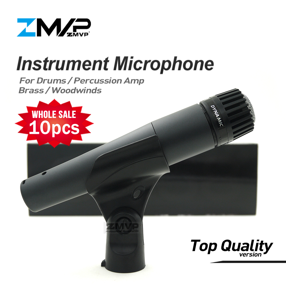 10pcs Top Quality Version SM57LC Professional Instrument Microphone 57LC Drums Percussion Microfone Brass Mike Woodwinds Mic