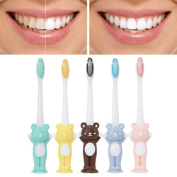 NEW Children Kids Toothbrush Cartoon Handle Teeth Brush Oral Care Toothbrush Health Children's Tooth Brush Suction with Stand