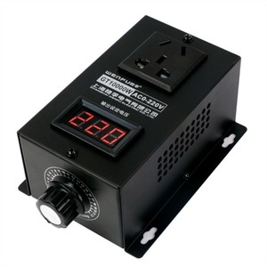 Image 2 - 10000W High power Silicon Electronics Voltage Regulator Machinery Electric Variable speed controller  0V 220V