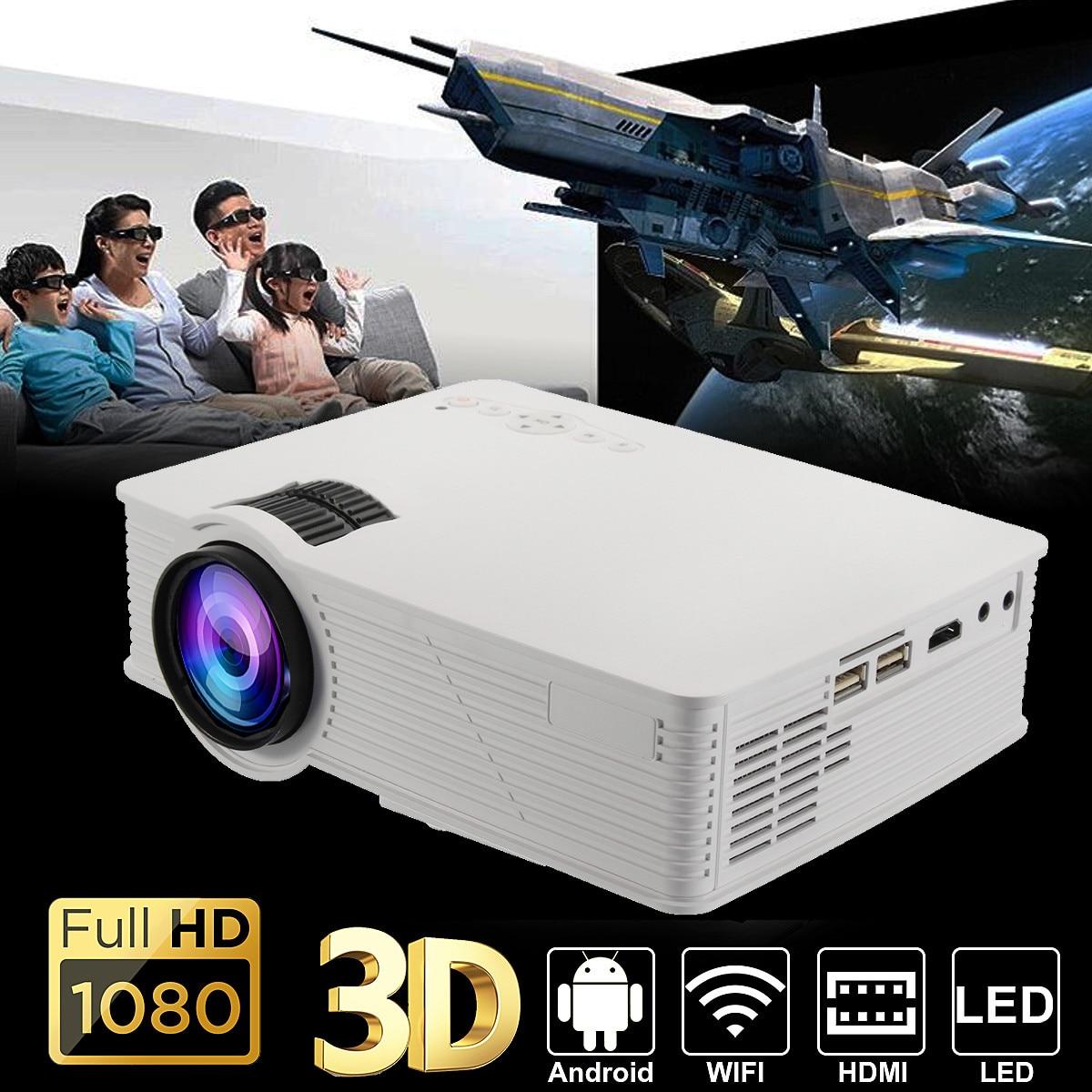 Verantwortlich 7000 Lumen Led Wifi Projektor 1080 P Volle Hd Android4.4 3d Multimedia Usb/sd/hdmi/vga/ Av/tv Für Theater Home Cinema Au/us-stecker Durch Wissenschaftlichen Prozess Home Entertainment-system