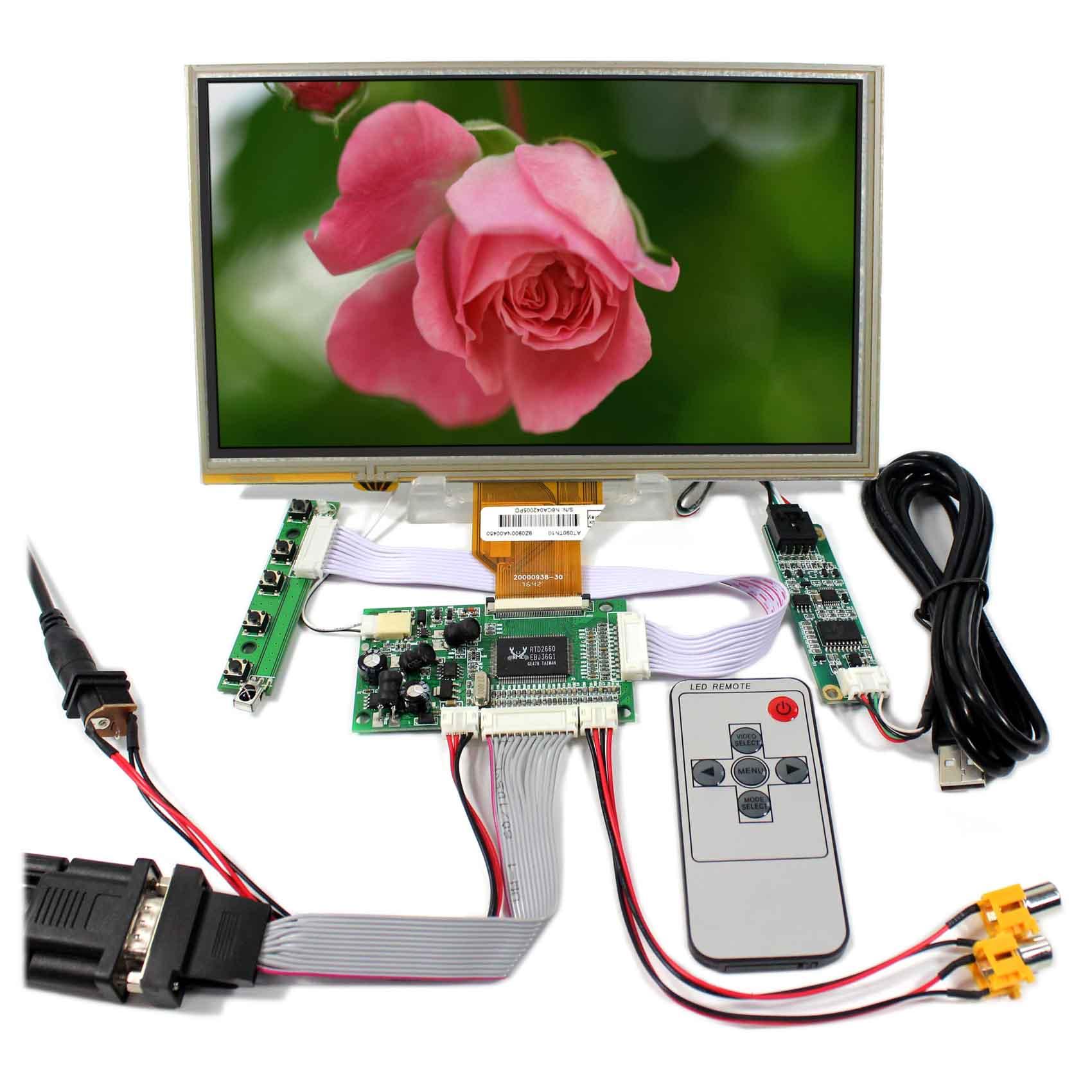 LCD Driver 800x480 AT090TN12 9 LCD Touch Dello Schermo VGA AV LCD Scheda del ControllerLCD Driver 800x480 AT090TN12 9 LCD Touch Dello Schermo VGA AV LCD Scheda del Controller