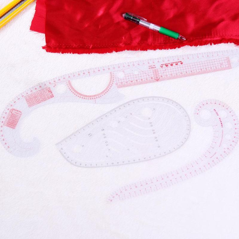 13pcs/set Multi-function Sewing Tailor Rulers Clothing Garment Rulers Sample Cutting Ruler Yardstick Plastic Patchwork Ruler