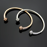 New classic design Rose Gold Colorful Stone Bracelet For fashion Women Round Ball Bracelet Silver love Jewelry