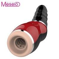 Meselo Male Suck Masturbator USB Rechargeable Deep Throat Sexual Moans Sex Toys For Men Electric Sextoy Masturbator For Man 2019