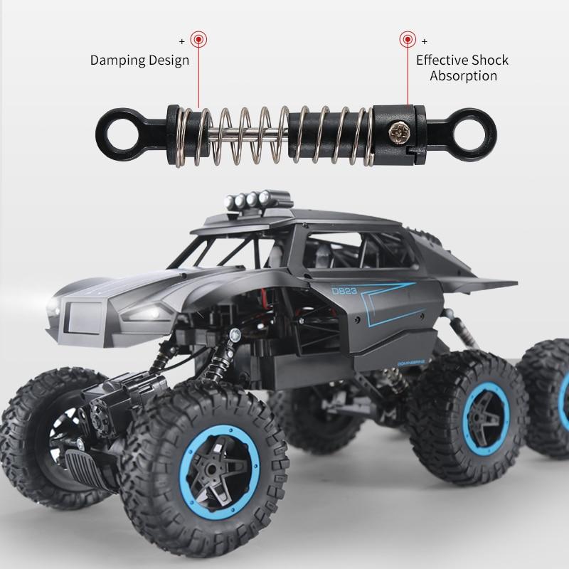 Oyuncaklar ve Hobi Ürünleri'ten RC Arabalar'de JJRC Q51 RC Araba Off Road MAX 6WD RTR Yarış Kamyon Araba Uzaktan Kumanda tırmanan oyuncak arabalar Ön led ışık fırçasız motor'da  Grup 2
