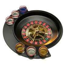 Новинка, подарки, Вечерние игры, рулетка, питьевая игра с 6 стеклянными вращающимися колесами, портативная настольная игра для 2-3 игроков