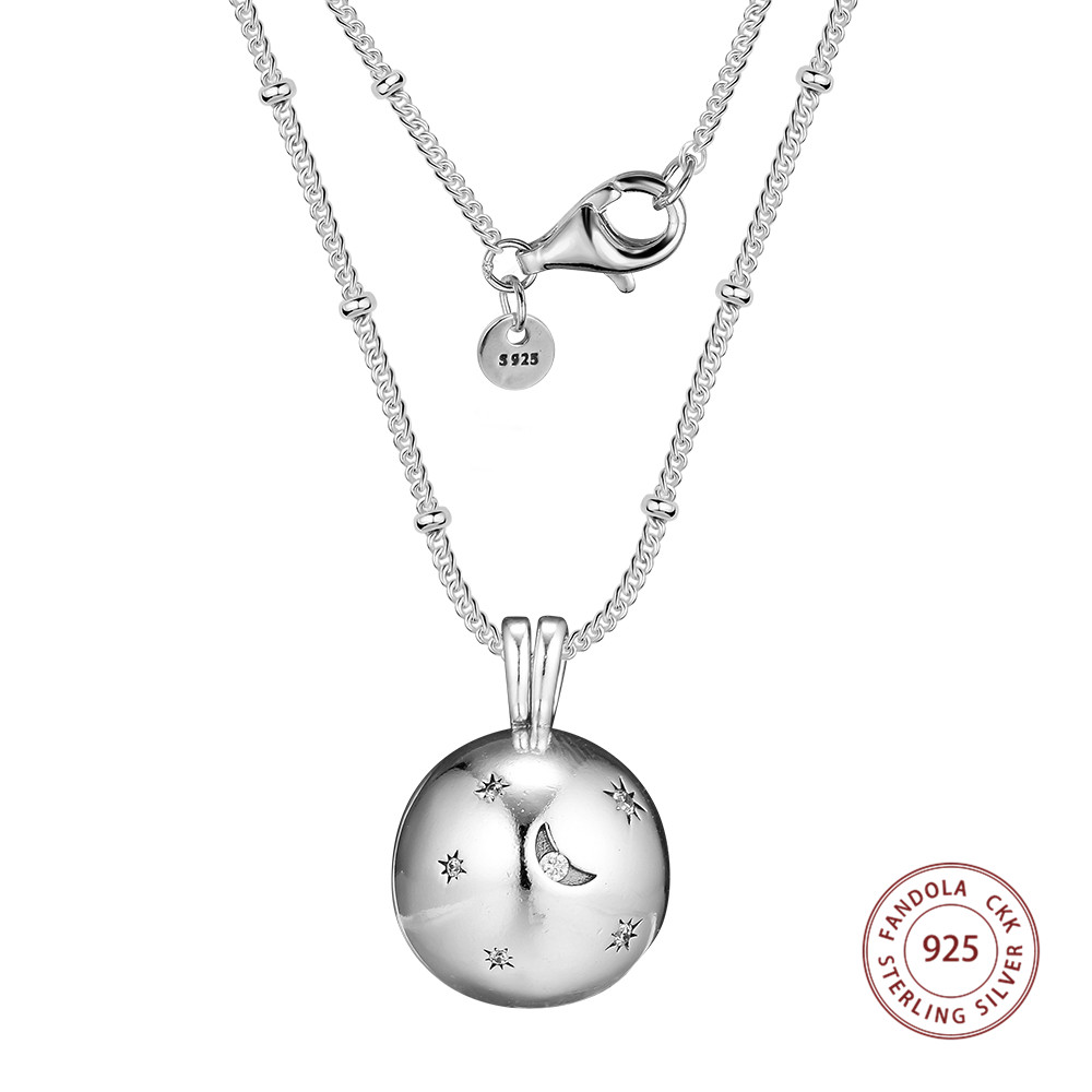 Sterling Silver Girls .8mm Box Chain Oval Peace Sign White Simulated Opal Pendant Necklace
