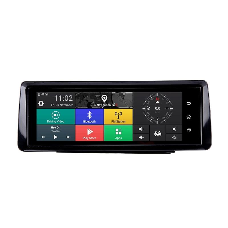 Foldable Car Dvr 10 Inch Dash Cam Android 5.1 Gps Navigation Dual Lens Cameras Auto Recorder Full Hd 1080P Car Dash Camera For