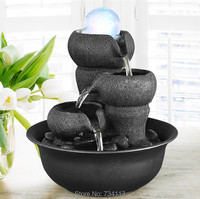 Creative mini fountain desktop ornaments fountain works of art resin exquisite office gifts relax ornaments Mini fountain cool