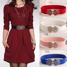 Женское эластичное платье с металлическим цветком в стиле ретро, узкая талия, пояс, красный, синий, черный, белый, розовый