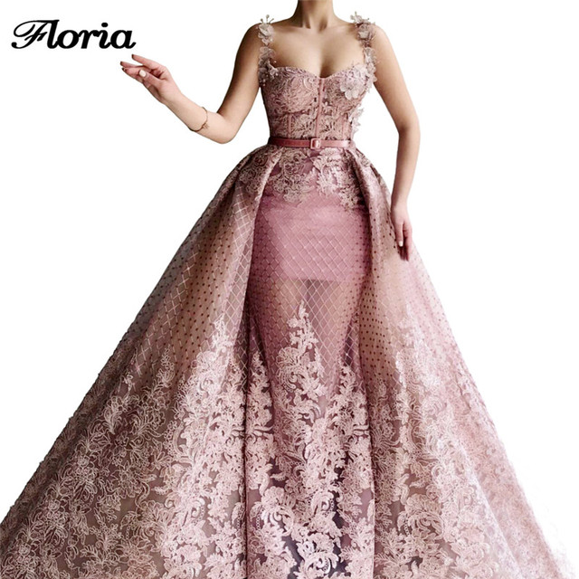 Women Pink Evening Dresses For Celebrity Robe De Soiree Longue Dubai Design Arabic Prom Dress Abendkleider Aibye Gowns Custom