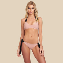 2019 Sexy Pink Bikinis Women Swimwear Push Up Swimsuit Halter Top Biquini Padded Bathing Suit Bandage Bikini Set все цены