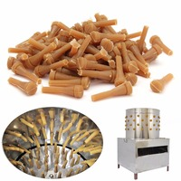96pcs/lot Chicken Plucker 20 x 65mm Poultry Plucking Fingers Hair Removal Machine Glue Stick Beef Tendon Material Corn Rod