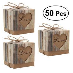 50 шт./упак. DIY любовь подушки детские коробки конфет Винтаж Craft Бумага конфеты подарочные коробки Свадебная вечеринка пользу
