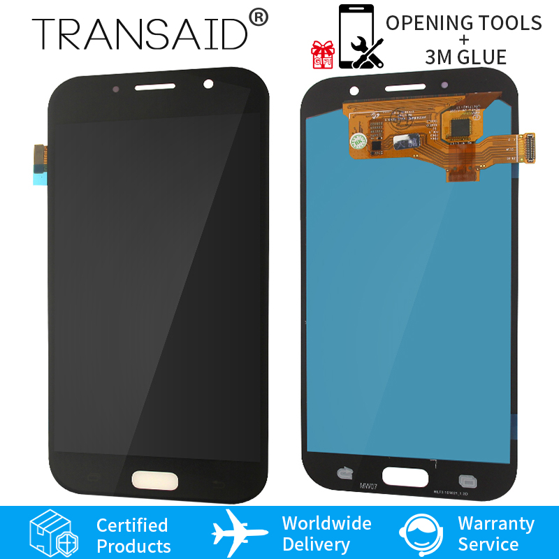 A720 A720F A720M Super AMOLED Replacement For Samsung Galaxy A7 2017 LCD Display Touch Screen Digitizer AssemblyA720 A720F A720M Super AMOLED Replacement For Samsung Galaxy A7 2017 LCD Display Touch Screen Digitizer Assembly