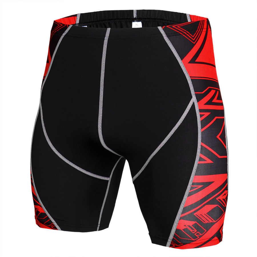 Neue Fitness Laufhose Männer Compression Enge Quick Dry Sport Gym Training Shorts Crossfit Leggings Kurze Hosen MMA Rashgard