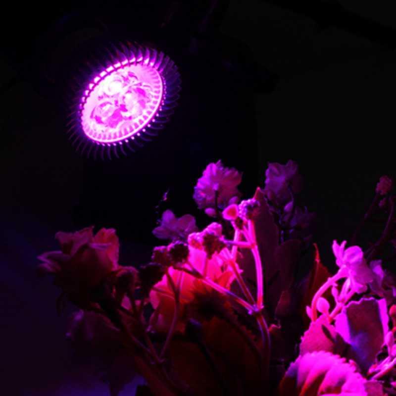 Grow LED Full spectrum LED Grow Light Bulb E27 Growing Lamp  Indoor Plants Vegetables seedling Red650-660NM Blue440-450NM
