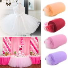 6inch * 100yard Tulle Roll Spool Stof Tutu DIY Rok Gift Craft Party Bow Tulle Rolls Wedding Party decoratie DIY Tutu Stof(China)
