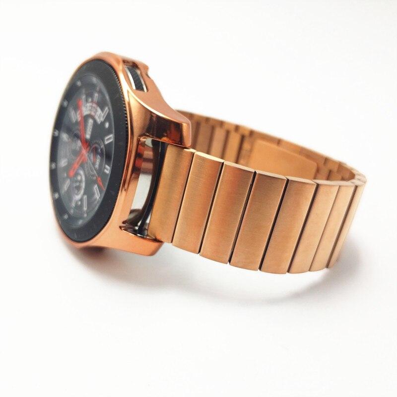 Bracelet de montre pour Samsung Galaxy montre 46mm lien acier inoxydable bracelet avec TPU housse bracelet de montre pour Samsung Gear S3 bracelet