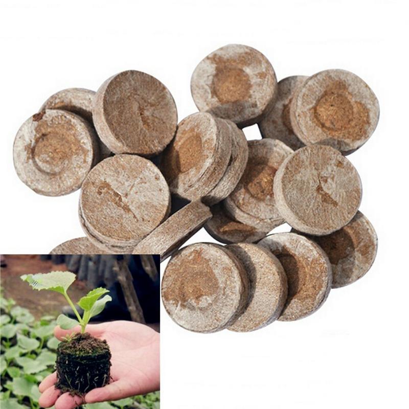 20 PCS Per Set Seedling Block Nutrient Block Compression Compressed Peat Block Magic Soil Medium Packaged Seedling Block