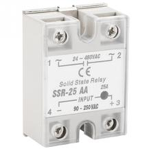 цена на Solid State Relay SSR -25AA 25A AC control AC SSR white shell Single phase Solid State Relay Input 90-250V AC Output 24-480V AC