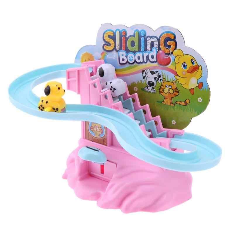 Juguete de mano rompecabezas de pista de deslizamiento de escaleras juguetes interactivos para padres e hijos regalos educativos Montessori