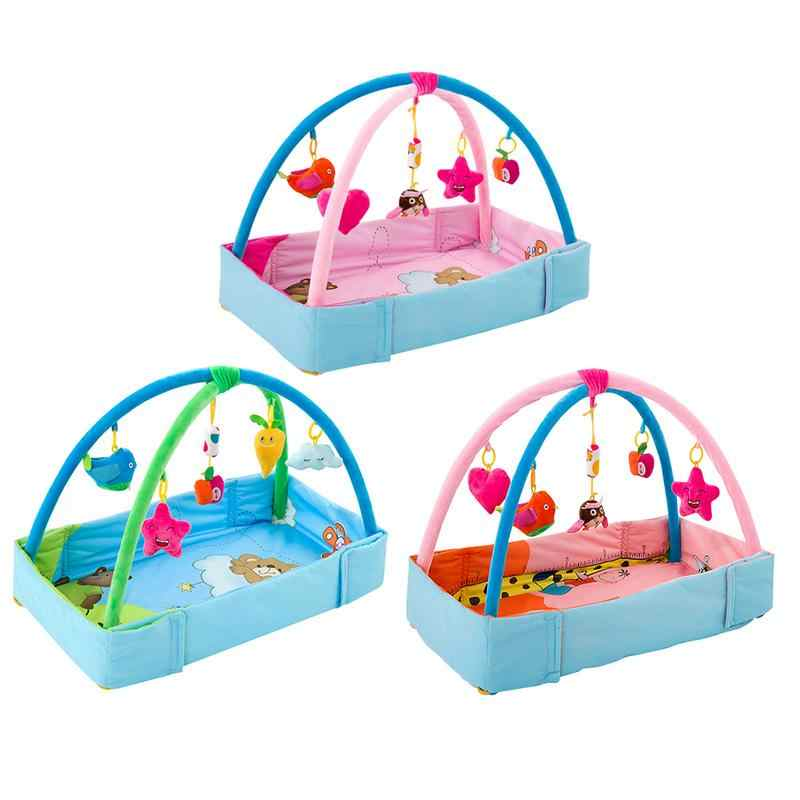 Kids Children Music Fitness Rack Baby Toys Fitness Rack Floor Crawl Play Mat Cushion For Kids Birthday Fun Hot Gifts Droshipping
