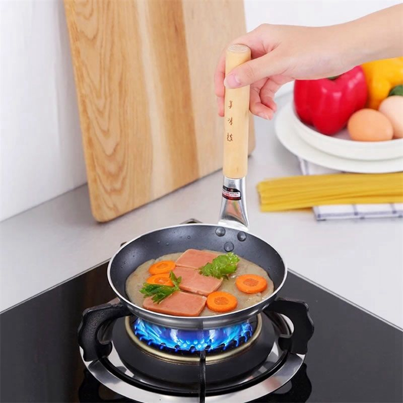 Frying Pan With Composite Bottom Straight Handle Pancake Skillets Steak Grill Pan Smoke-free Cooking Pot Kitchen Cookware