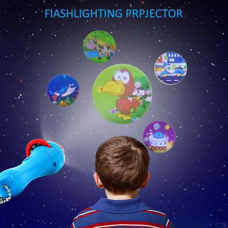 Детская сказка на ночь фонарик проектор игрушечная горка сказка на ночь игрушка для раннего развития ребенок свет сна лампа