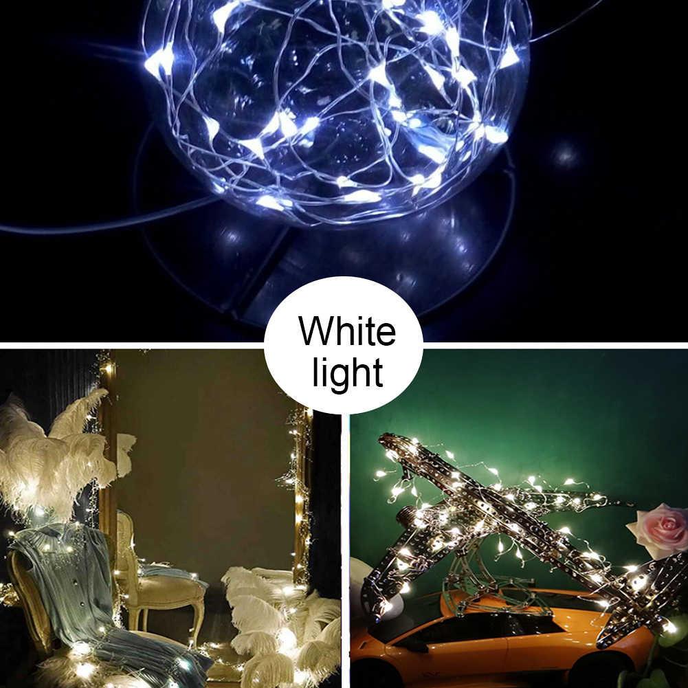 Белые сказочные гирлянды с дистанционным управлением, водостойкие, 5 м, 50 светодио дный ных огней, медная проволока, светлячок, праздничные огни