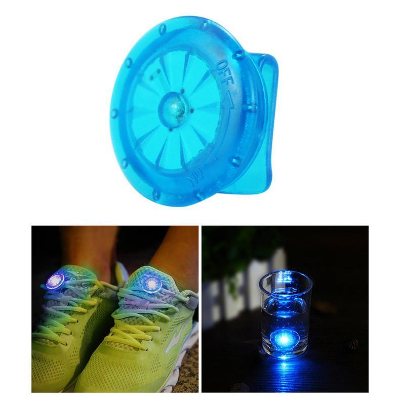 1 Pcs Useful Outdoor Tool LED Luminous Shoe Clip Light Night Safety Warning LED Bright Flash Light For Running Cycling Bike