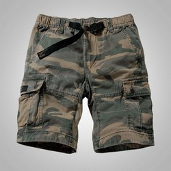 Mens Camouflage Shorts Cargo Military Shorts Casual Multi-Pocket Solid Color Loose Shorts Men Army Short Bermudas Masculina