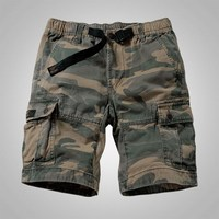 Mens Camouflage Shorts Cargo Military Shorts Casual Multi Pocket Solid Color Loose Shorts Men Army Short Bermudas Masculina