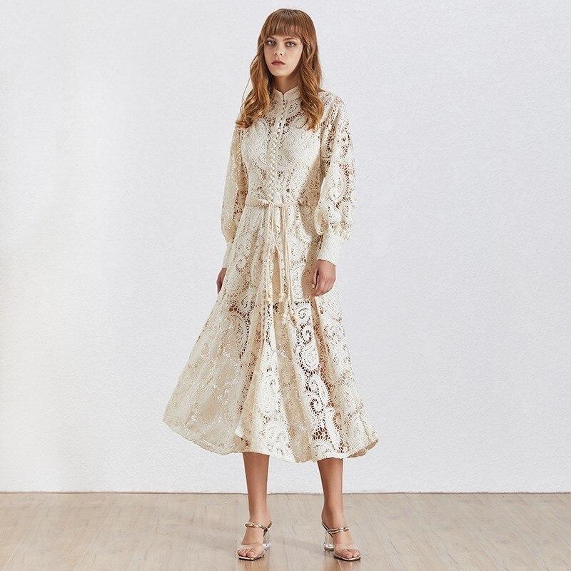 Dress Waist Midi Female