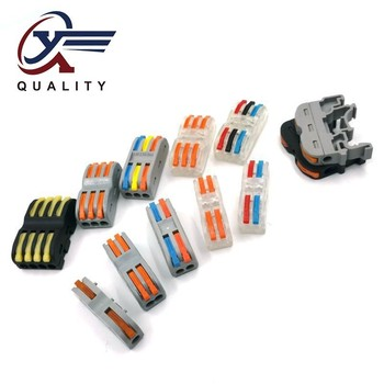 цена на PCT-2-2 LSA-1 PCT-111 PCT-201 Compact Wire Wiring Connector type Conductor Terminal Block With Lever 0.08-2.5mm2 SPL-2 3