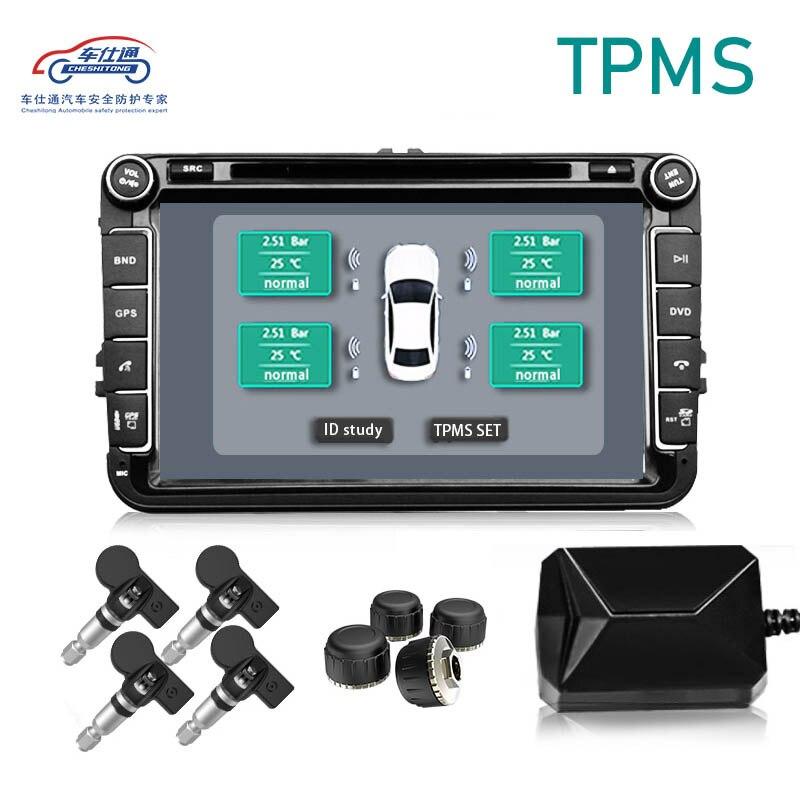 Système de surveillance de la pression des pneus de Navigation TPMS USB capteurs internes externes alarme de pneu pour transmission sans fil DVD Android