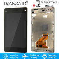 Original 4.3 D5503 M51W screen replacement for SONY Xperia Z1 Compact LCD Display Touch Screen with Frame Assembly